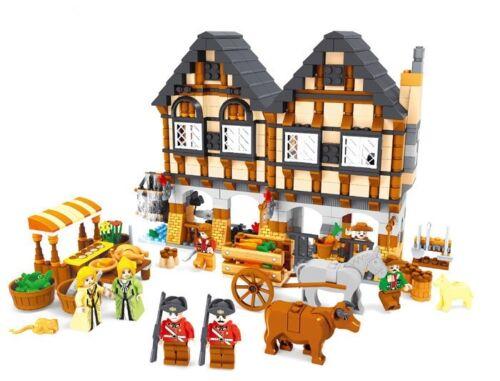 884PCS Luxus Bauernhof Ferienhaus Building Blocks Modell Bausteine Spielzeug Set