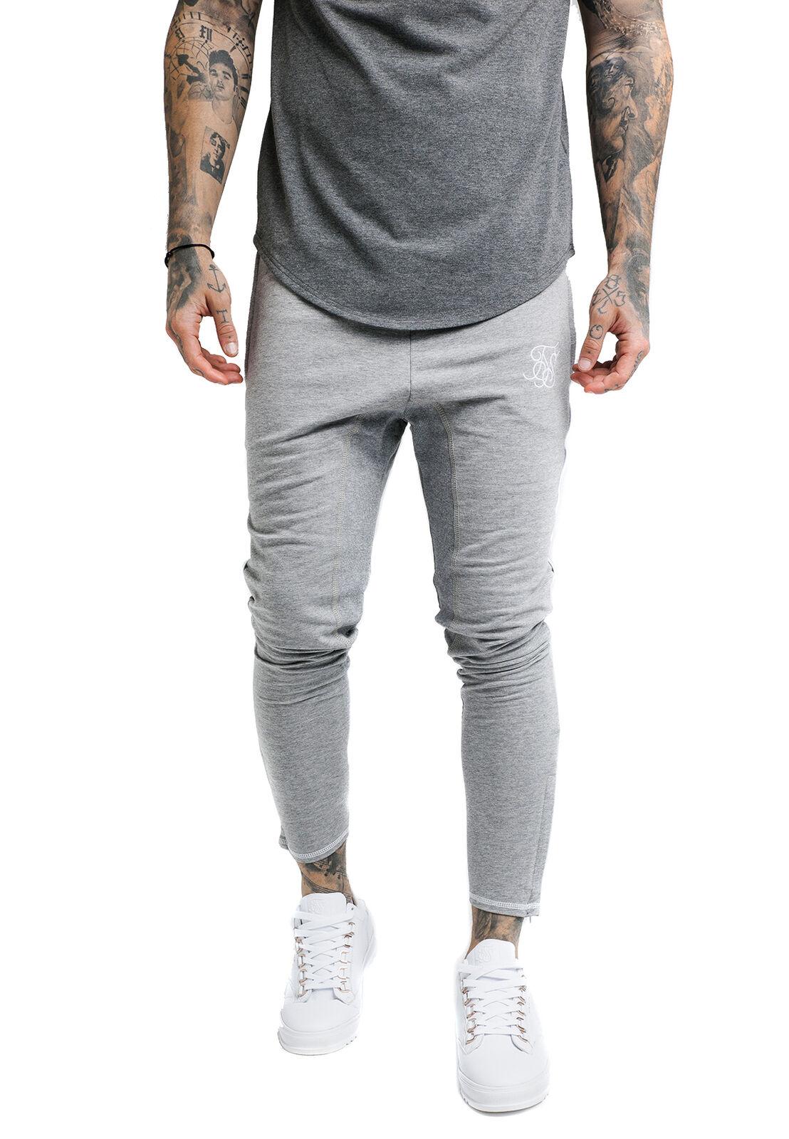 Siksilk Uomo Jogger Zonal Pantaloni Ss-13668 Grigio Marna