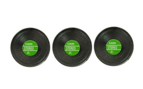 Dolls House 3 Records with Green Label Miniature Music Room 1:12 Scale Accessory