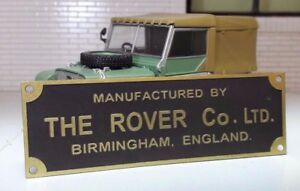 Land-Rover-Series-1-80-86-107-Bulkhead-Chassis-Metal-Rover-Factory-Plate-Plaque