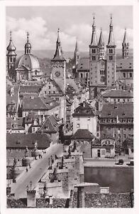 Wuerzburg-Blick-von-der-Feste-Marienberg-Ansichtskarte-1954-gelaufen