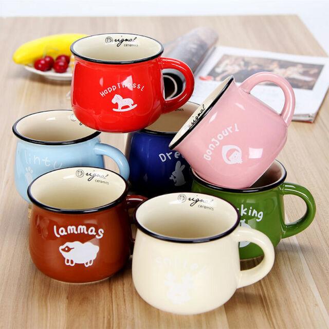 Retro Ceramic Milk Cup Breakfast Coffee Mug Animal Pattem Home Lovely Drinkware