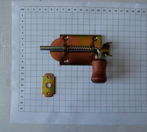 200mm Heavy Duty Spring Loaded Drop Bolt Stable Garage Door Gate Shed 75mm