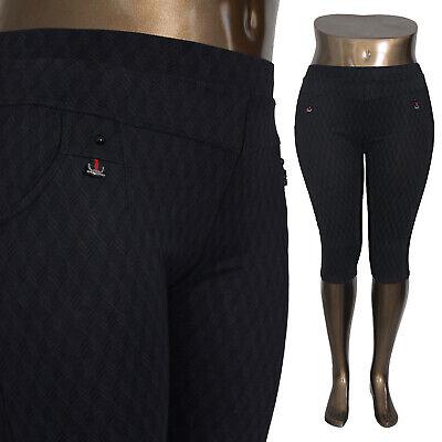 Xxl Capri Stretch Pantaloni Oversize Ampia Federale Treggings Leggings 68372-mostra Il Titolo Originale