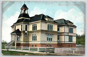 Buckley-Washington-High-School-Split-Rail-amp-Picket-Fences-1910-Postcard