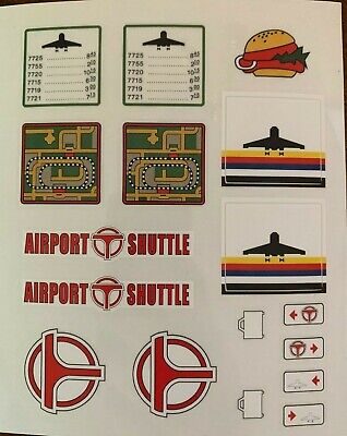 Custom Replacement Stickers for Lego 6396 International Jetport Airport