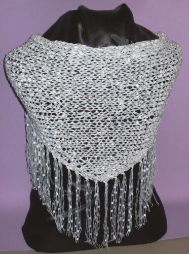 Dressy Shawlette White Shawl Perfect for Parties and the Holidays!