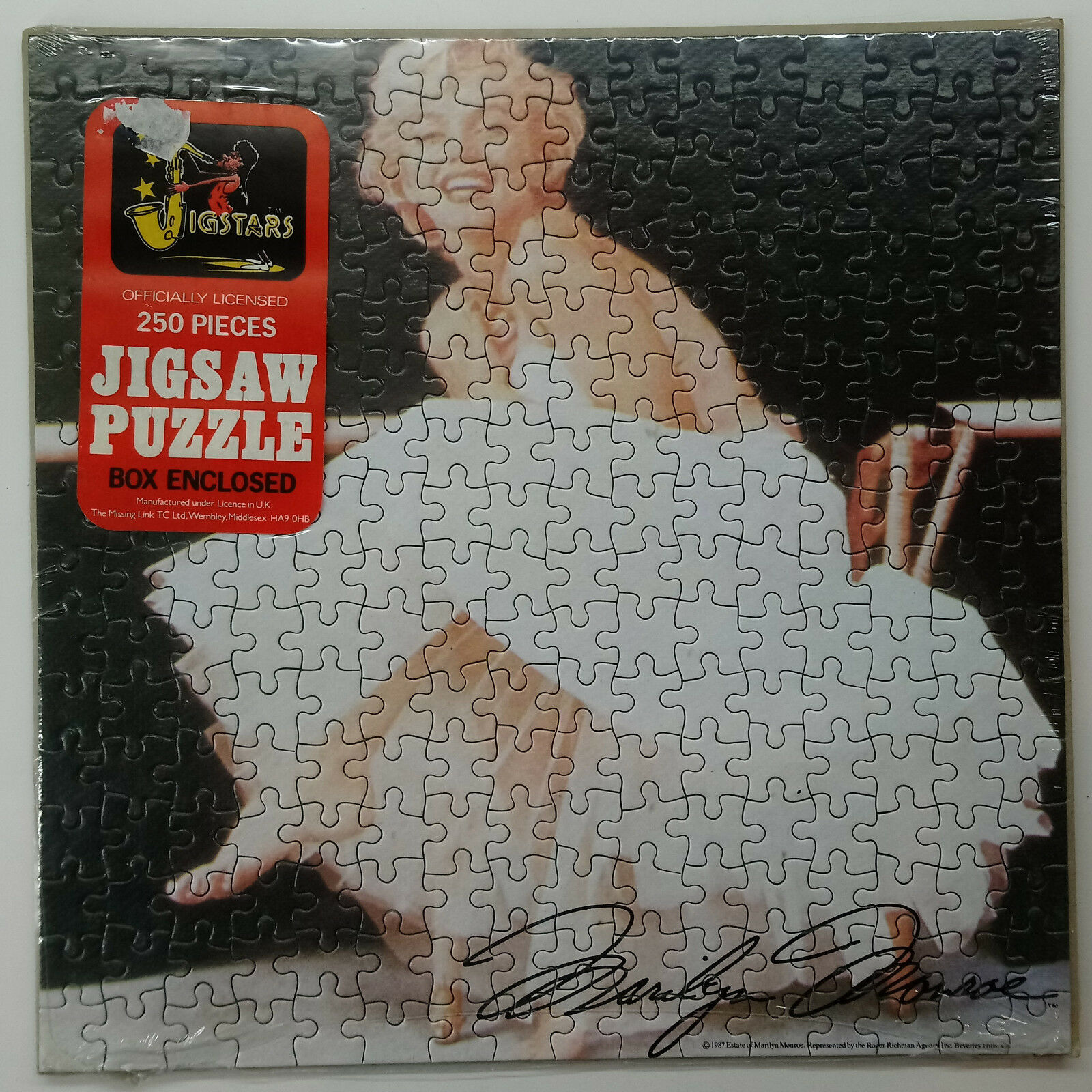 1987 MARILYN MONROE JIGSAW PUZZLE 250 PIECES SEALED NEW
