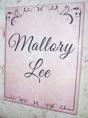 Cute Pink /& Black 8x10 Canvas Sign Shabby-Vintage Decor EXPRESS YOURSELF