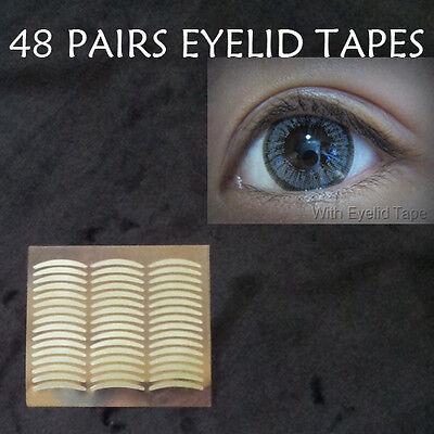 48 pairs women eye charm double eyelid tape invisible self adhesive eye makeup