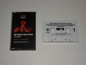 NEIL YOUNG & CRAZY HORSE LIVE RUST CASSETTE TAPE REPRISE 2W5 2296