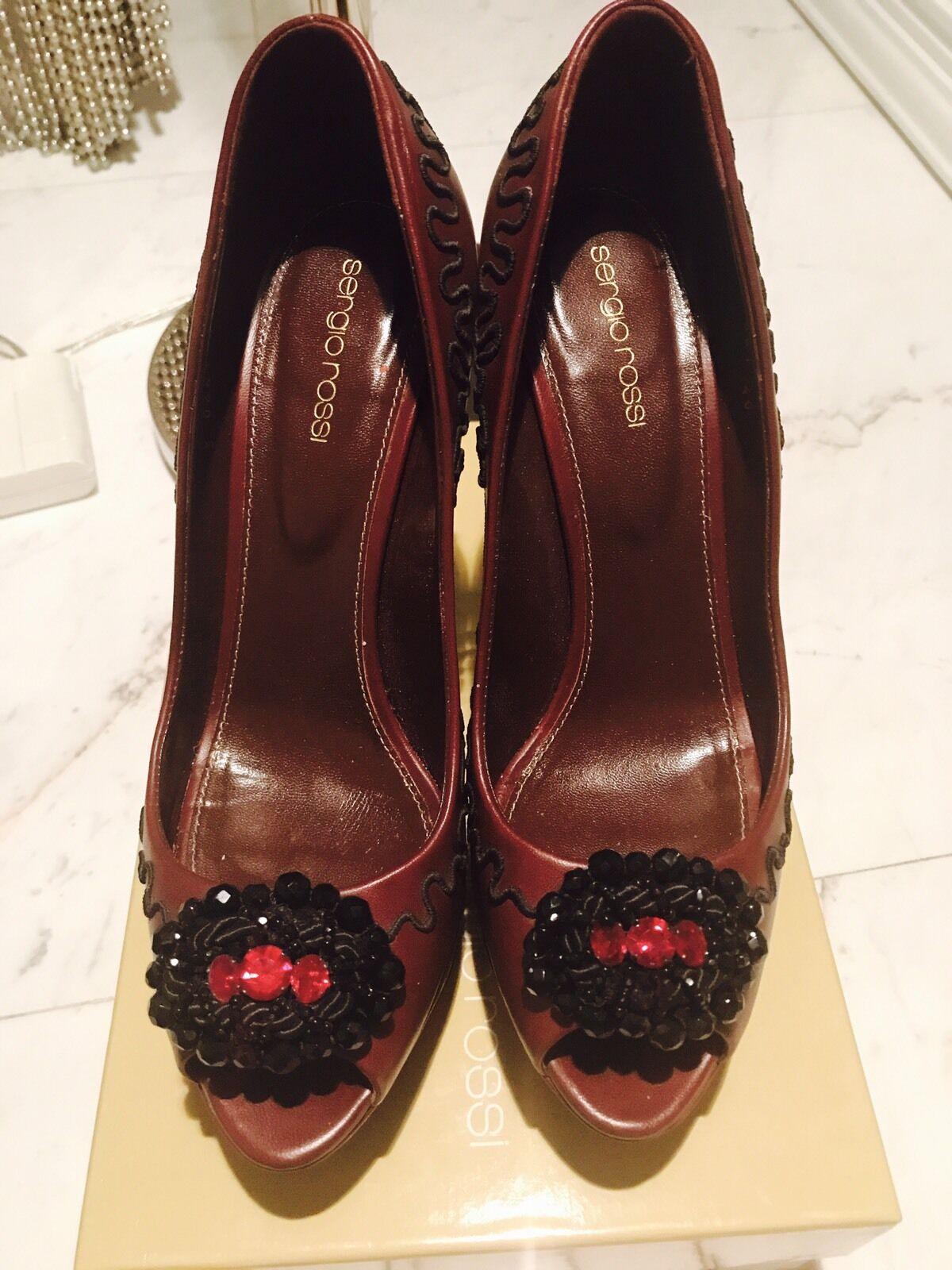 prezzi all'ingrosso Sergio Rossi High Heels Platform scarpe Pumps Sz40  1100 1100 1100  centro commerciale online integrato professionale