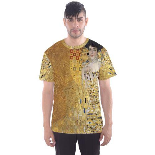 Gustav Klimt Portrait of Adele Sublimated Mens Sport Mesh tee t shirt Size S-3XL