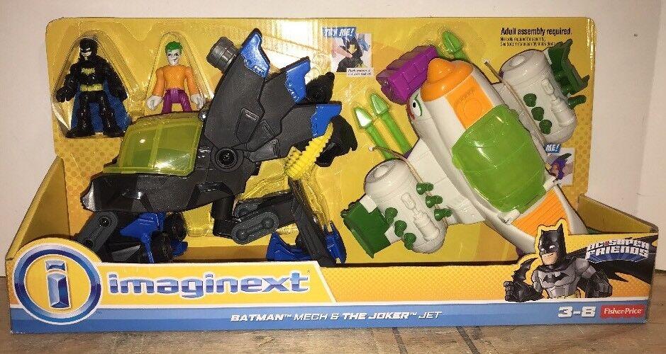 NEW Fisher Price Imaginext DC Super Friends Batman Batman Batman Mech Joker jet plane Robot 4bd89e