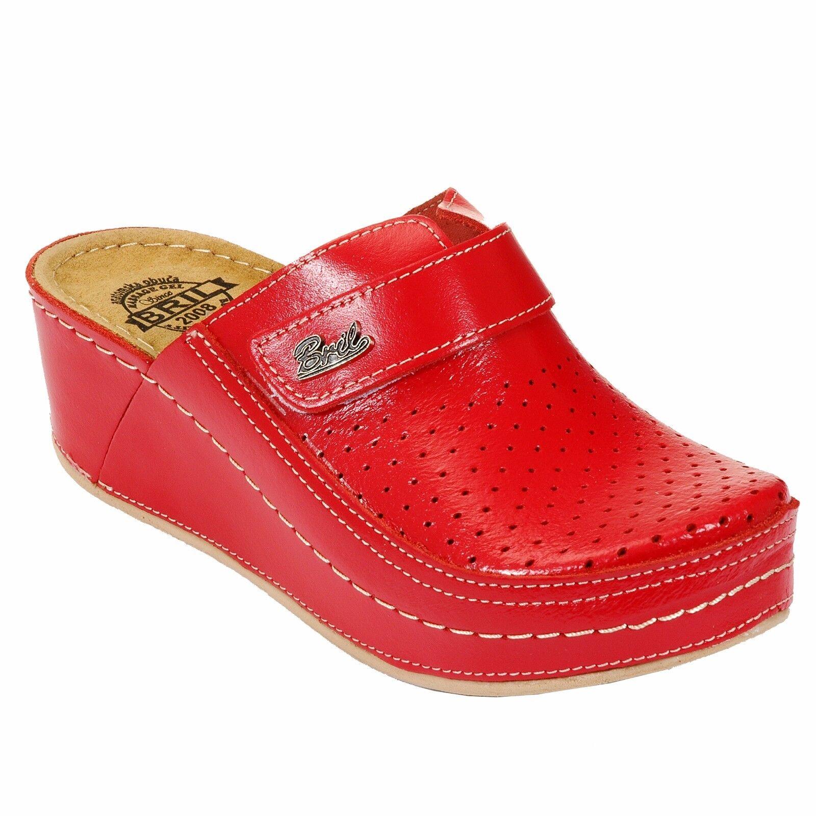 DR PUNTO ROSSO ECO IN PELLE DONNA D130 Scarpe, Slip On Clogs Pantofole Scarpe, D130 Rosso 5cd1fc