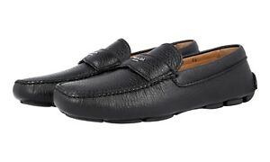 Daino Shoes Nero Logo 5 5 Leather Loafer 41 2d2170 Prada 40 Soft Luxury 6 pB0wWqt67c