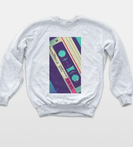 Retro Tape Cassette Sweatshirt Pop Art Vintage Jumper Indie Music Sweat Top