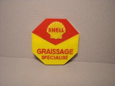 ENSEIGNE /' SHELL /' 1965  POUR  GARAGE  STATION   SERVICE  MGF  VROOM   1//43