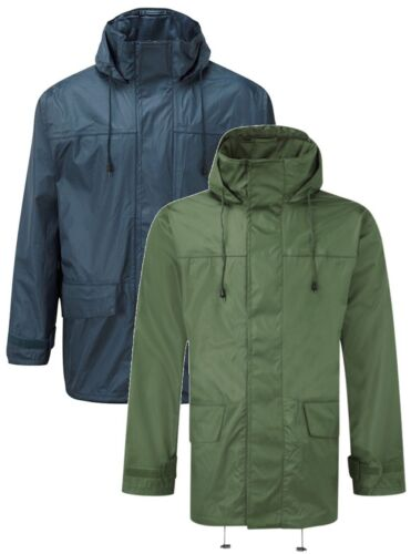 small-3XL Castle Fortress 214 Tempest green or navy water /& wind-proof jacket