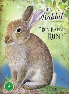 RABBIT-COUNTRY-WILDLIFE-METAL-PLAQUE-TIN-SIGN-OTHER-ANIMALS-LISTED-3-SIZES-1263