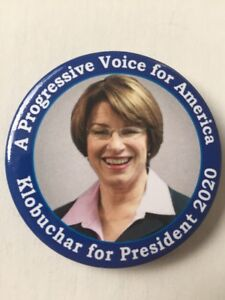 2020-Senator-Amy-Klobuchar-for-President-2-25-034-Button-034-A-Progressive-Voice-034-Pin