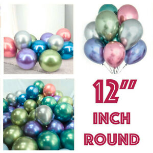 Metallic-Latex-Balloons-12-034-INCH-Chrome-Bouquet-Wedding-Birthday-Party-Supplies