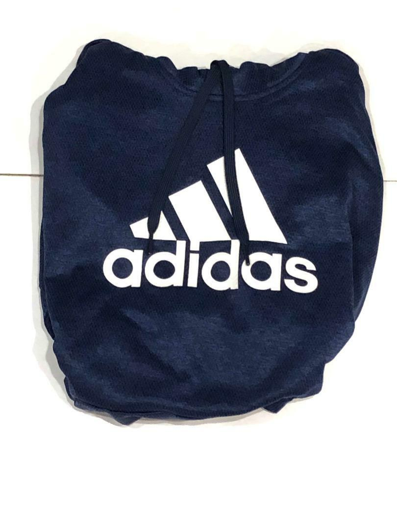 Adidas Team Issue Badge Fleece Sport Big Logo Hoodie blueE DH9320