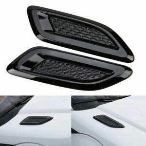 Car Bonnet Air Flow Intake Side Fender Vent Moulding Trim Decals Stick On