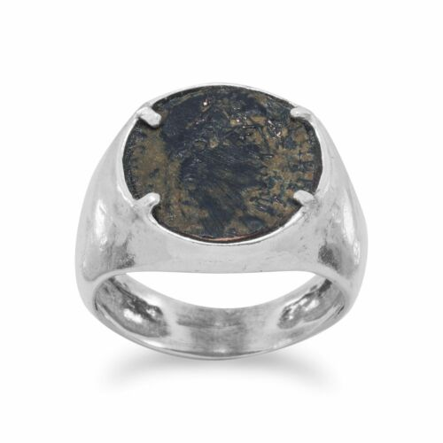 Antike Römische Münze Ring 925 Sterlingsilber