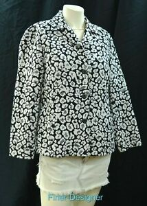 Geo Long Sz 2 L Additions Suit Nuovo Jacket M Chico Chicos Slv Blazer Button XnYY7