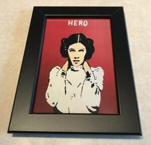 Star-Wars-Princess-Leia-Carrie-Fisher-Pop-Art-4x6-Framed-Print-Hero-Empire-Jedi