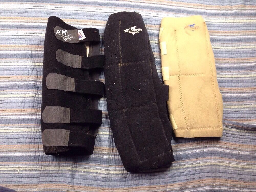 PROFESSIONAL CHOICE SPORTS MEDICINE HORSE LEG Wrap Pad Sleeve Lot Of 3