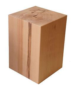 Natur holzblock buche nachttisch beistelltisch ablage for Holzklotz beistelltisch