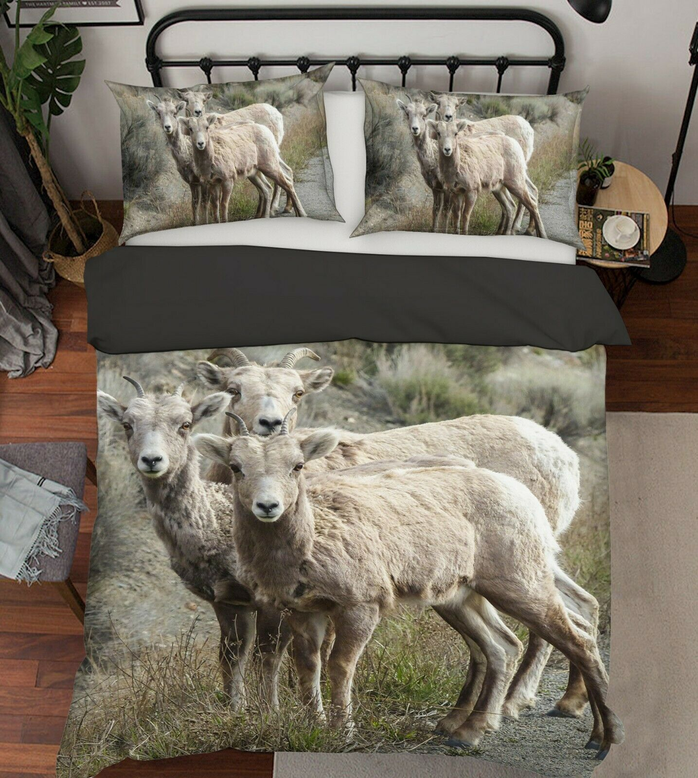 3D Sheep Grass G23 Animal Bed PilFaiblecases Quilt Duvet Cover Set Queen King Wendy