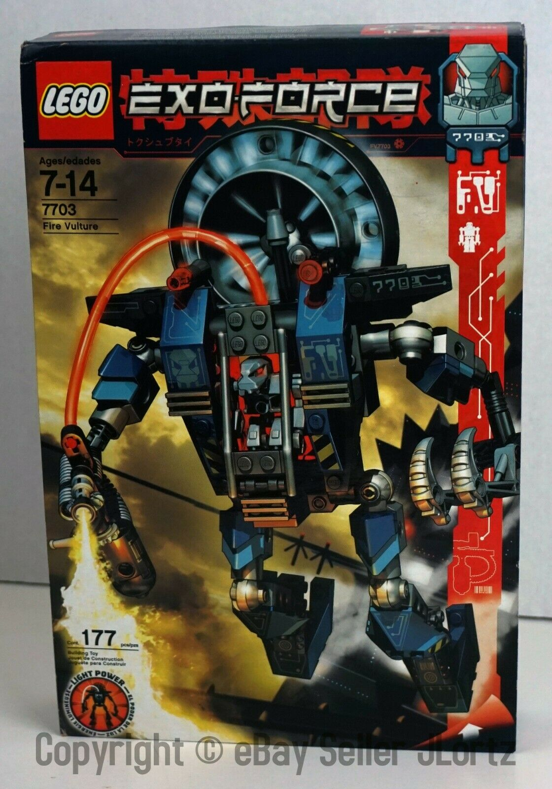 Lego 7703 Exo-Force fuego Buitre-Vintage 2006 Exo Force Nuevo