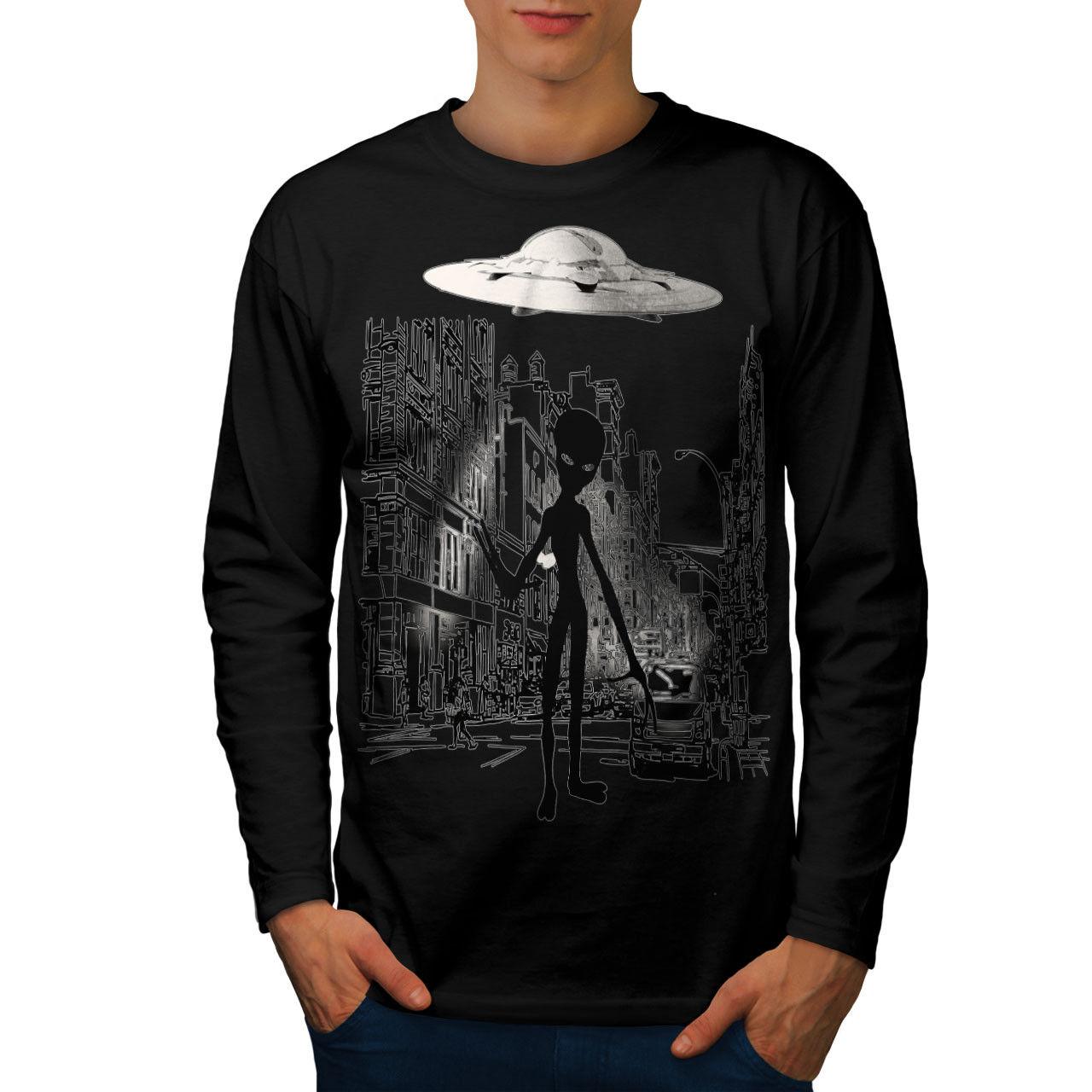Alien Ghost à Vie Hommes T-shirt à Ghost manches longues Nouveau 4cc0b2
