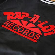 colorSupreme X Rap-A-Lot Records Satin Club Jacket Small S Black Teddy Box Logo