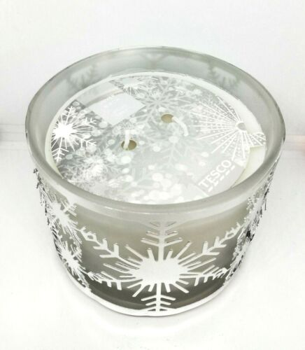 Christmas Silhouette 2 Wick Filled Candle 25 Hour Burn Time Silver Birch