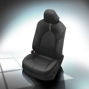 Image Is Loading KATZKIN BLACK LEATHER INTERIOR SEAT COVERS FIT 2018