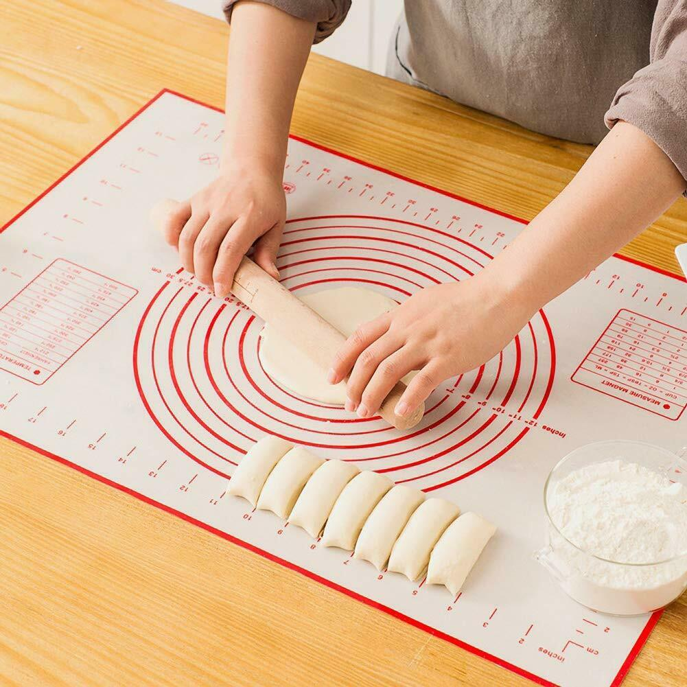 Silicone Non-stick Roll Pad Cake Dough Mat Pastry Clay Fondant Baking Mat XL 6