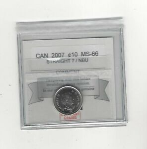2007-Straight-7-Coin-Mart-Graded-Canadian-10-Cent-MS-66-NBU