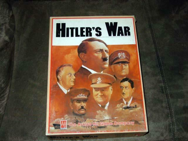 AH Avalon Hill - 1984 - Hitler's War - Three Game Set - WWII Campaign Game cpy