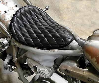 EASYRIDERS BLACK DIAMOND STITCH SOLO SEAT HARLEY BOBBER CHOPPER XS650 TRIUMPH