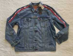 09c541a1cd Details about NEW MEN S XL XXL LEVI S SPORTSWEAR LOGO TRUCKER JEAN JACKET  BENCH POINTS DENIM