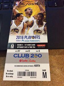 2016 GOLDEN STATE WARRIORS V CLEVELAND CAVALIERS NBA FINALS GAME #1 TICKET STUB | eBay