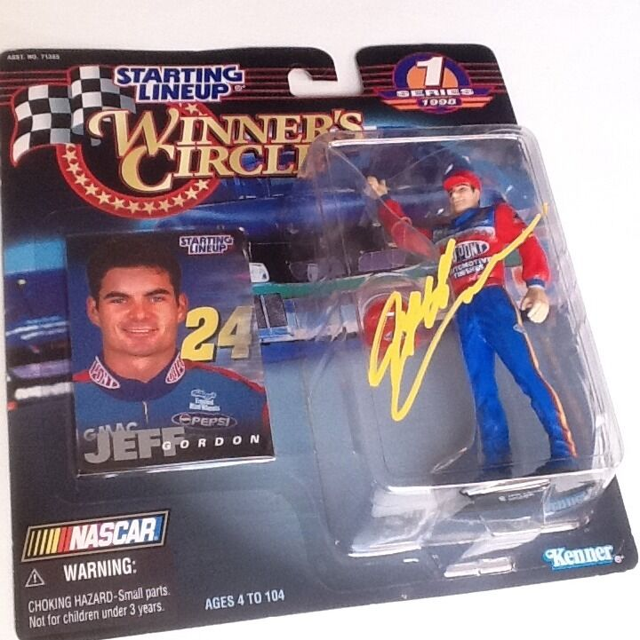 Jeff gordon signed autograph NASauto Estrellating Lineup Winners Circle Circle Circle cifra COA a90b44