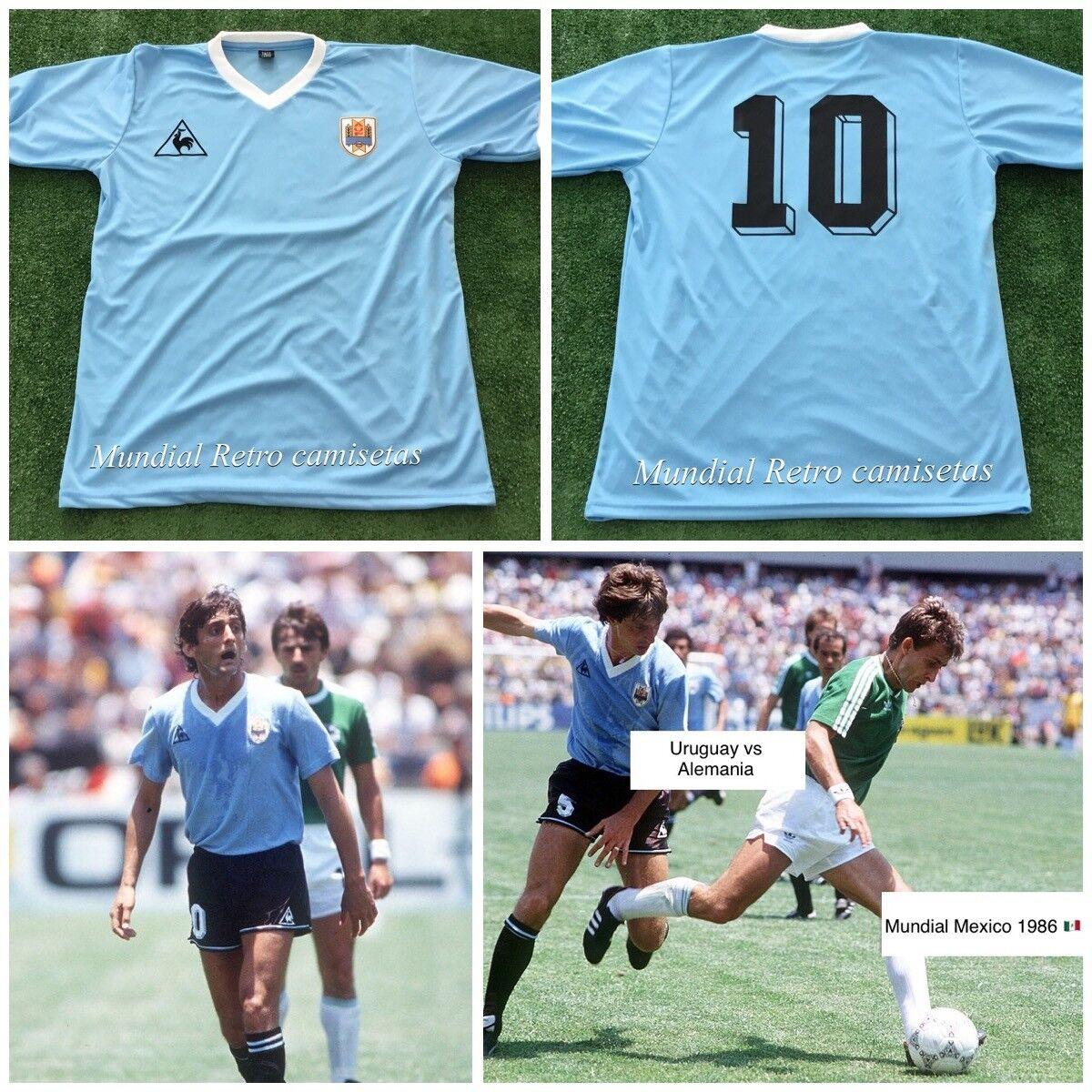 Francescoli Uruguay World Cup Mexico 1986 jersey camiseta maglia  (replica)