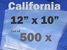 Lot Of 500 Piece Heat Shrink Wrap Film Flat Bags 12x10 Candles Pvc 12 X 10