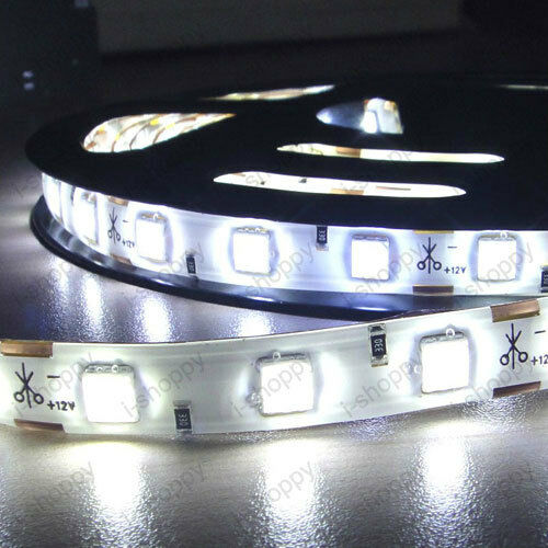 Roll 5M 300-LED Strip Lamp Pure White 5050 SMD Waterproof Light Garden Cabinet