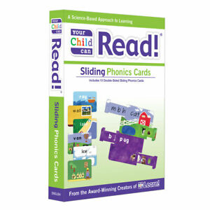 Your Child Can Read! Sliding Phonics Cards (Flashcards for ages 1 to 8 years)